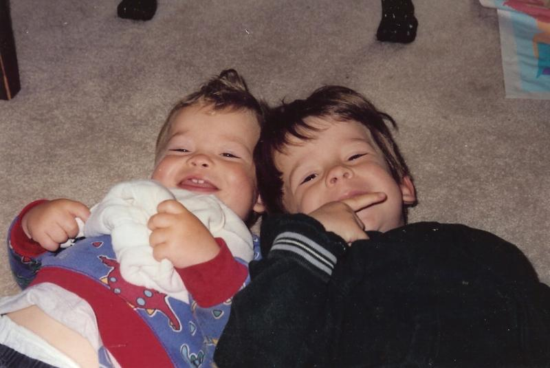 Liam and Solon, ages 18 mo and 3 yrs