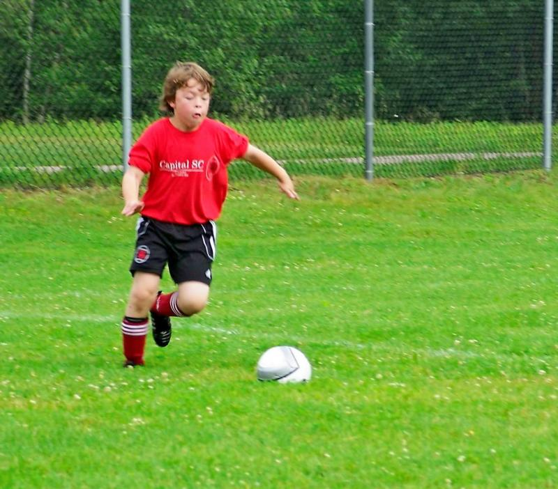 Liam Soccer, May 2009